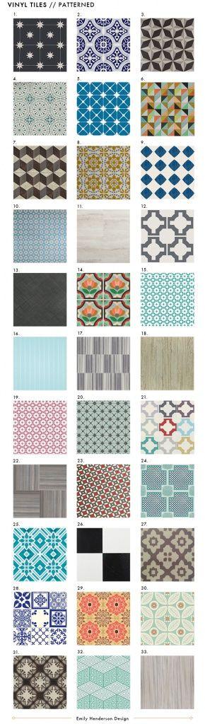 NEW Vinyl Tile Patterns - Emily Henderson.