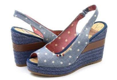 ... na leto na dovolenky modna obuv na platforme textil kód výrobku