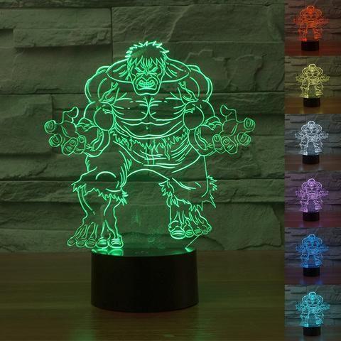 Incredible Hulk 3D Illusion LED Light