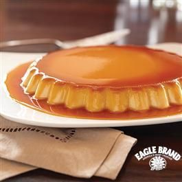 Covered in melt-in-your-mouth caramel goodness, this Caramel Cream Cheese Flan from Eagle Brand® is the perfect dessert for any celebration!