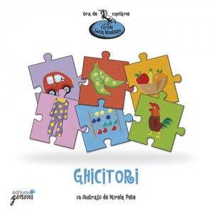 Cartea aceasta, cum se pare, Nu-i o carte ca oricare; Afli când o răsfoiesti Că nu-i carte cu povești, Că nu-i nici cu poezii Sau cu jocuri de copii, Deși le are pe toate Laolaltă adunate. Ei, atunci, ce poate fi? Cine ar putea ghici? Iubiții mei cititori, E cartea cu…ghicitori! Varsta: +4 ani Pagini: 32 http://jucarii-vorbarete.ro/produs/ghicitori/