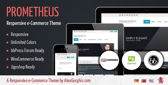 Prometheus is responsive e-Commerce theme shop for #Wordpress.