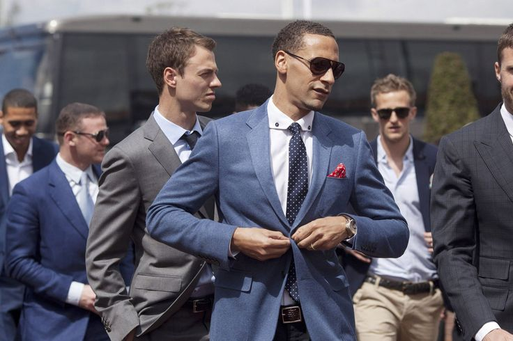 Jonny Evans, Rio Ferdinand, Anders Lindegaard, and Michael Carrick at Chester Racecourse