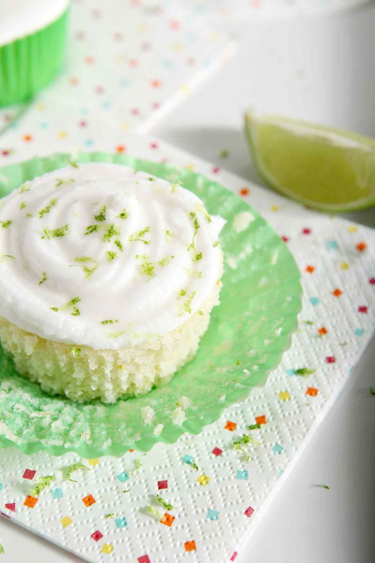 Margarita Cupcakes with Salted Tequila Frosting make the PERFECT dessert for Cinco de Mayo! This small batch dairy free dessert tastes like its namesake! #recipe #tequila #dessert #cupcakes #lime