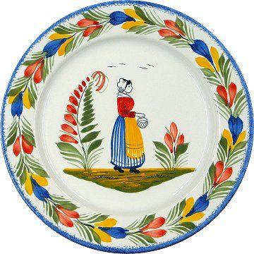 Breton faience plate