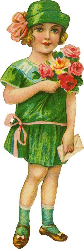 Vintage Girl Scrap.