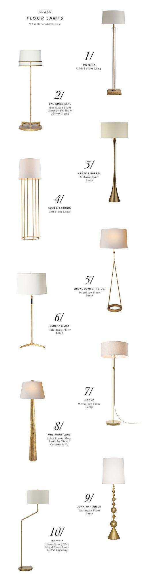 10 BEST: Brass floor lamps
