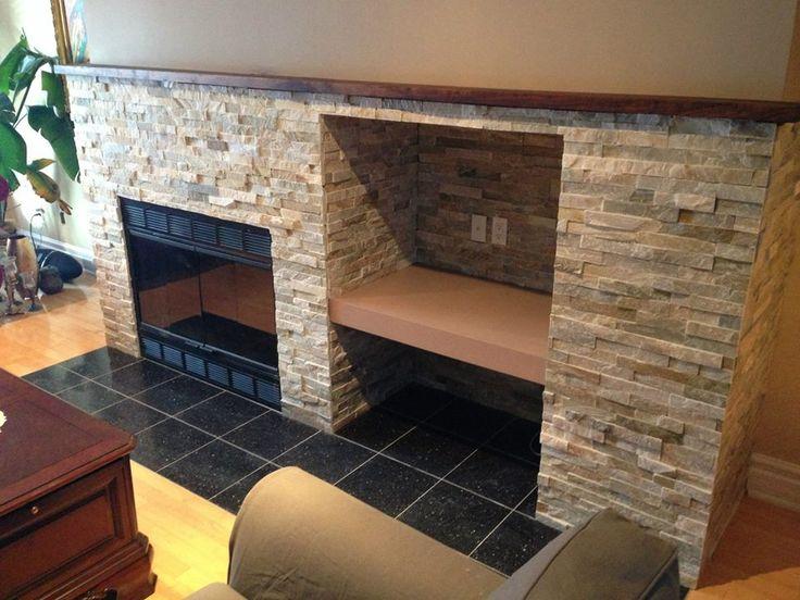 Manteau de foyer 10 inspirations chaleureuses et modernes foyers r novat - Foyer pour barbecue en pierre ...