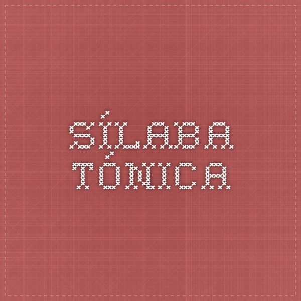 sílaba tónica_página web