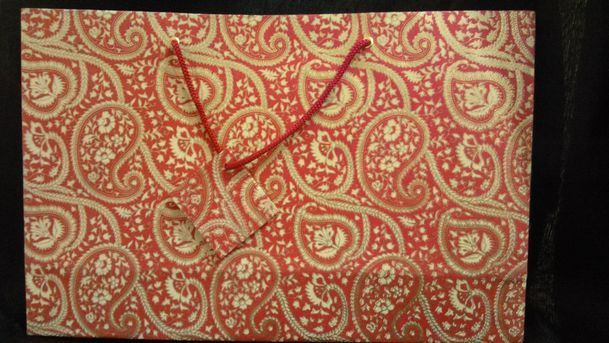 Red Large Printed Bag  (11)