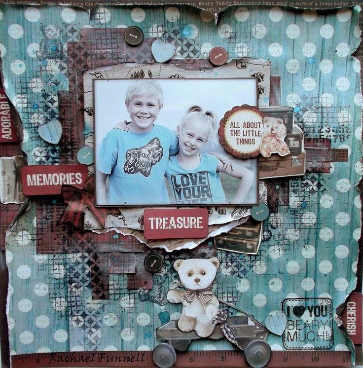 Kaisercraft  - Teddy bear's picnic Rachael Funnell. Wendy Schultz ~ Mixed Media.