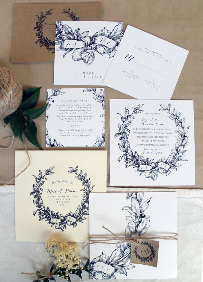 Just-My-Type-NZ-Wedding-Stationery-black-and-white-wreath-3