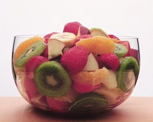 Honey Lime Fruit Toss - looking for a fun and healthy dessert option? Try this fun fruit salad!