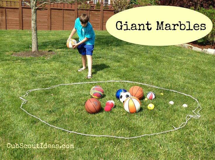 Giant Marbles!  Fun #CubScout pack meeting idea.