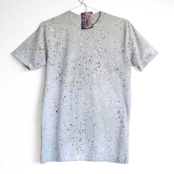 NATURAL SPECKLE TEE. Hand dyed tee. Unique t shirts. by Smukie
