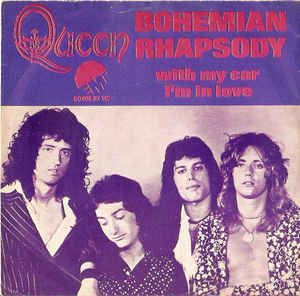 Afbeeldingsresultaat voor bohemian rhapsody single