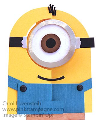 Minion Circle Flip Card May's Masculine Card Class (3 of 5) Designed by Carol Lovenstein ~ Stampin' Up!
