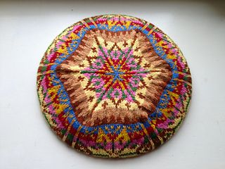 Nothing beats a classic Fair Isle Tam! It might look complicated to knit, but you are never working with more than two colours on any given row.