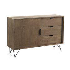 Wooden 3 Drawer 1 Sliding Door Cabinet