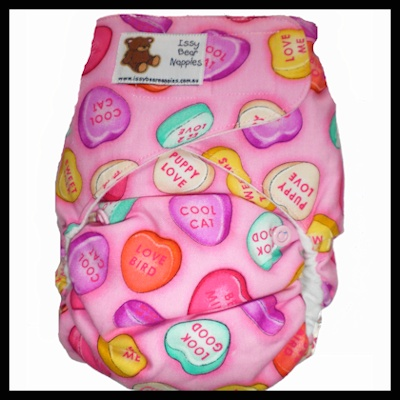 Issy Bears Day Velcro - Candy