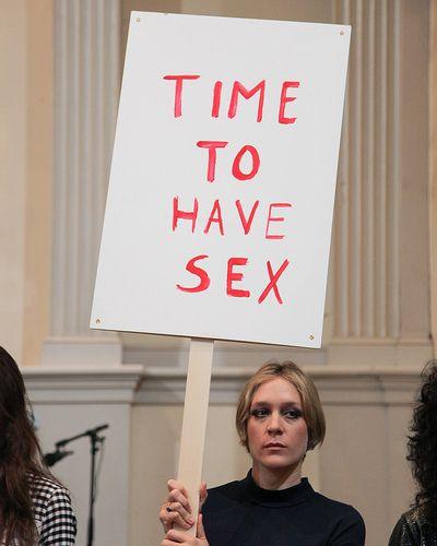 #nylonfw spotted: Chloe Sevigny at her Opening Ceremony presentation.
