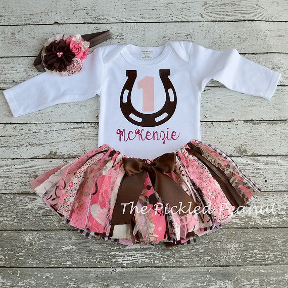 Cowgirl 1st Birthday Girl Outfit First by ThePickledPeanut on Etsy