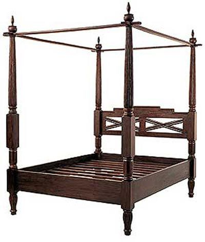 Solid Teak canopy bed