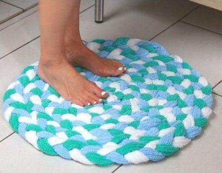 Мастер-класс по изготовлению коврика из махровых полотенец  #коврик_для_ванны #коврик_из_полотенец #мастер_класс #своими_руками