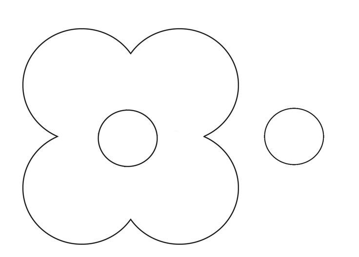 Poppy Flower Templates to Cut Out