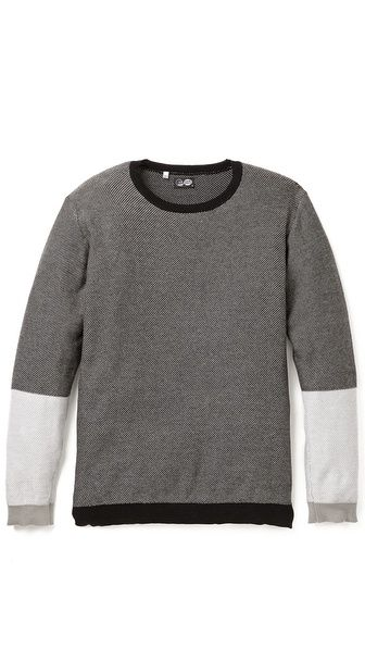 Two-tone sweater by Cheap Monday $110Mondays Lens, Cheap Mondays, Mondays 110, Image Cheap, Lens Pullover, Pullover Sweaters, Sweaters 800X864, Mondays Online, Block Sweaters Fal