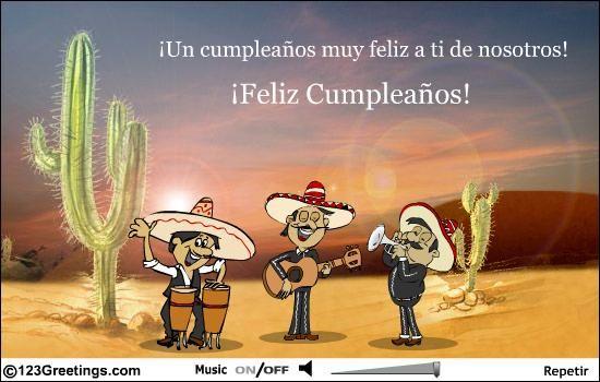 En espanol BDay cards Pinterest – Spanish Birthday Greetings