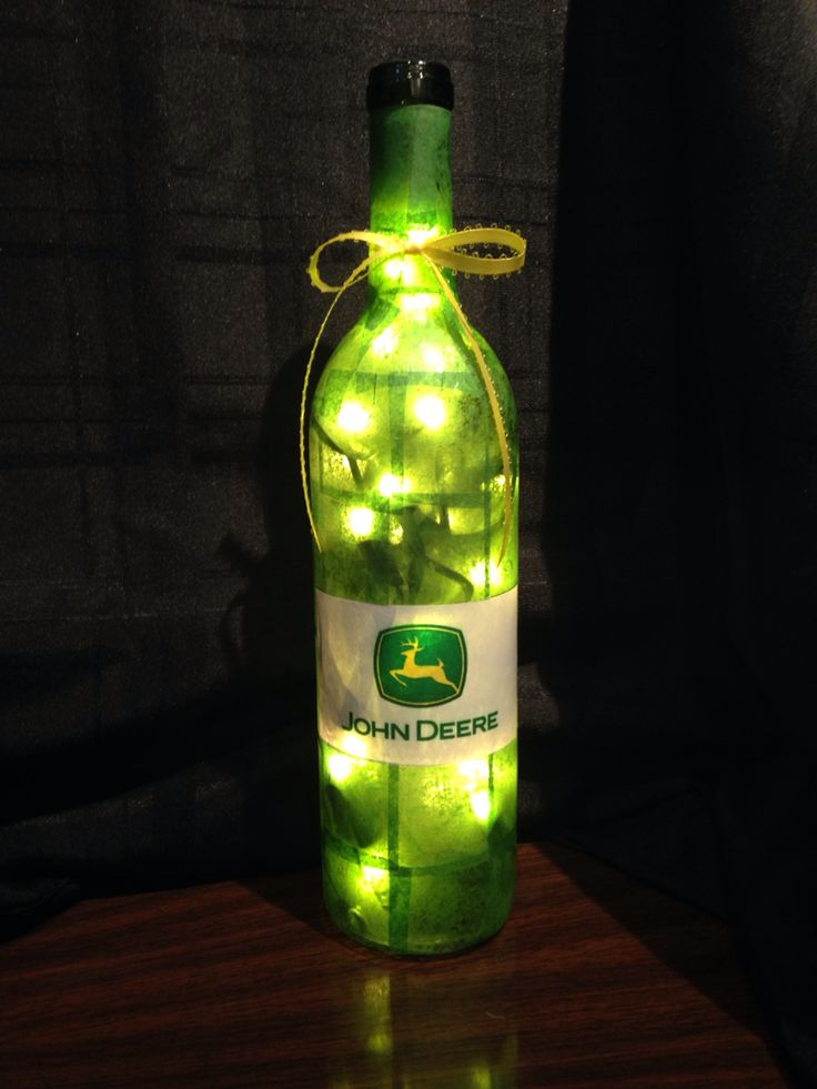 John Deere wine bottle lamp 77 best