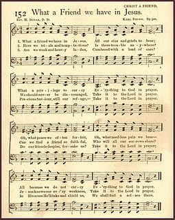 Free Printable Hymn - What a Friend we have in Jesus