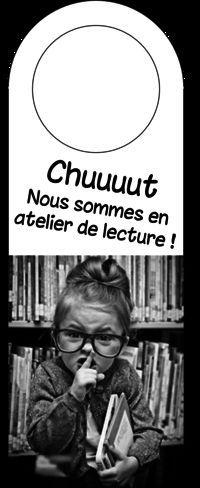 French classroom reading corner sign: affichage bibliothèque de classe