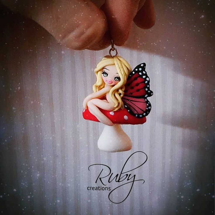 online shopping clothes cheap philippines Polymer clay butterfly fairy doll necklace  by Ruby creations  polymerclay  clay  unique  fairy  butterfly  wings  doll  cute  design  mushroom  necklace  jewelry  pendant  fimo  cernit