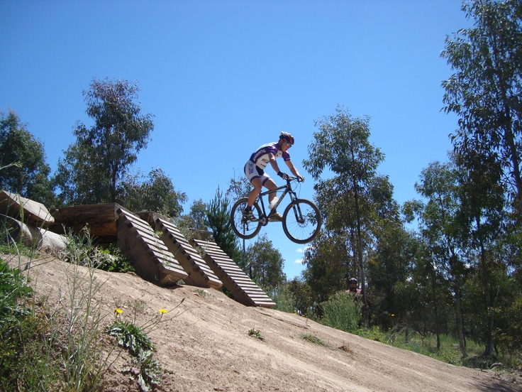 Jack, our mountain bike sweep, makes the black diamond drop look like a walk in the park. Stromlo Forest Park Canberra #humanbrochure