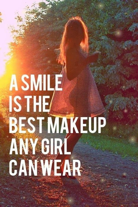 A smile is the best make up...