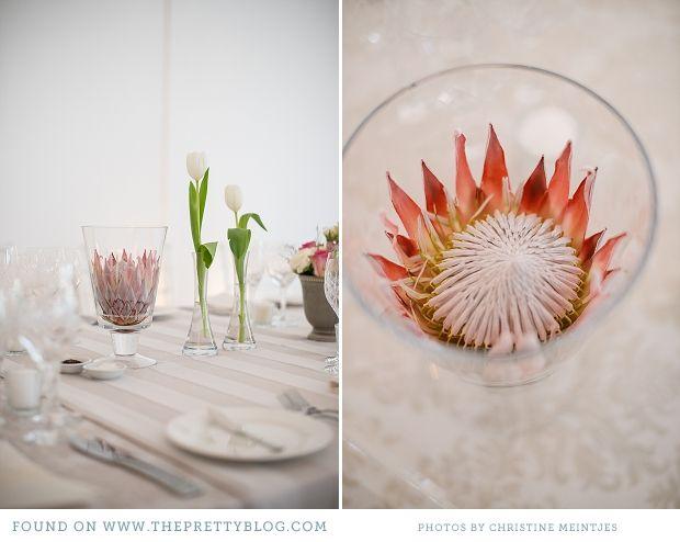 Cream & soft pink table decor   Photo: Christine Meintjes, Flowers: Floral Affairs, Coordinator: Just Jack Wedding Coordination