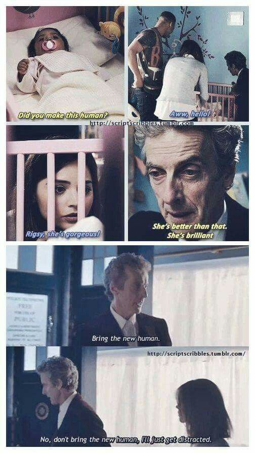 The Doctor likes babies! But the doctor was a father... 9, 10 & 11 all hinted at it in different episodes & seasons.