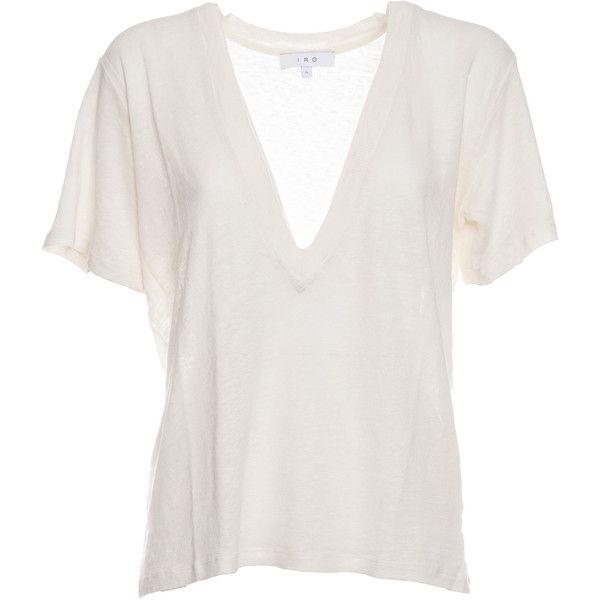 Long v Neck T Shirt ($95) ❤ liked on Polyvore featuring tops, t-shirts, shirts, t shirt, white, white shirt, long white shirt, short sleeve t shirt and v-neck shirt