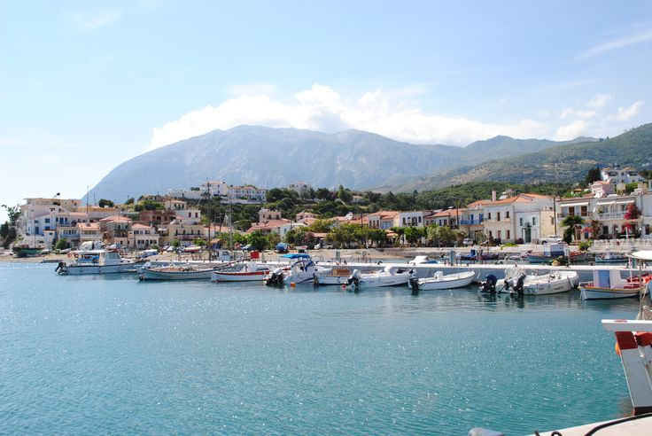 Ormos Marathokampos, Samos, Greece. #marina #fishing #village #summer