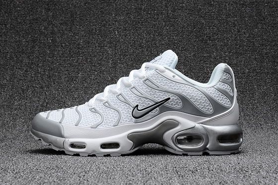Nike Air Max TN 2018 Snowy White Medium Grey Black 2018 Cheap Priced Shoe 4bf8ebd1b