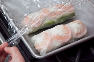 Vietnamese-Style Summer Rolls with Peanut Sauce Recipe - lettuce ...