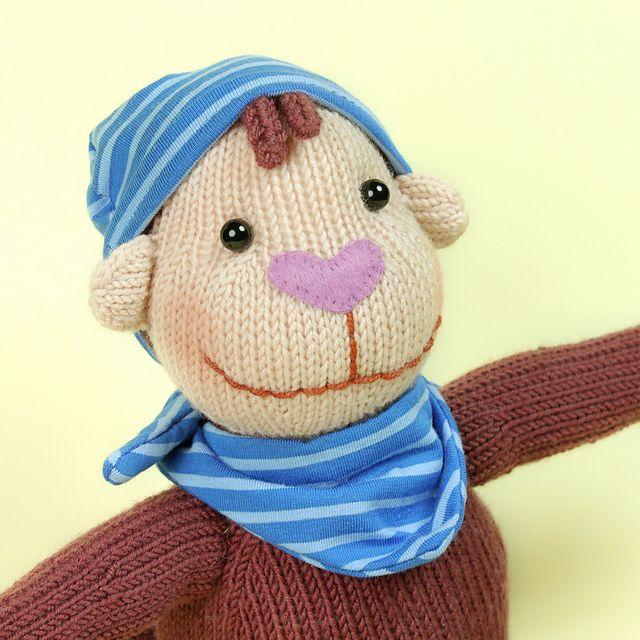 Lille, das kleine Affenmädchen. Strickanleitung / knitting pattern