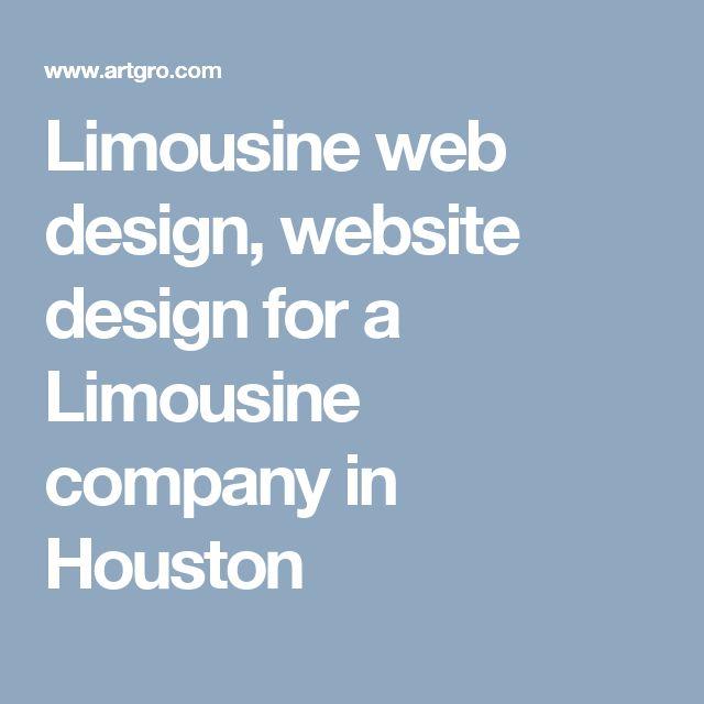 Limousine web design, website design for a Limousine company in