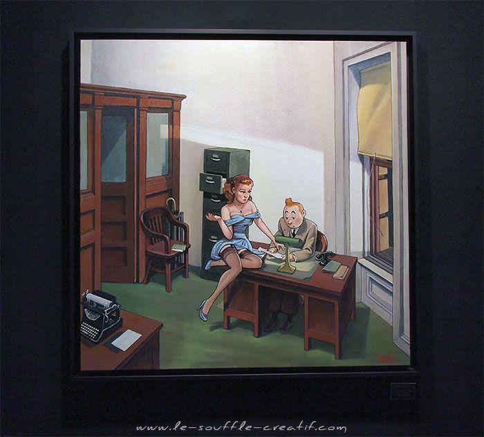 Salon ART3F Paris 2015 – Le Souffle Créatif Tintin / Hopper : Fun !