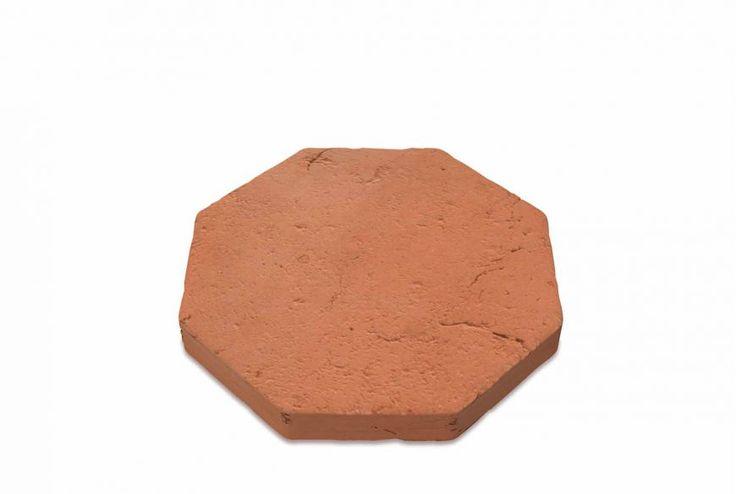 Side octagonal terracotta tile 10 cm