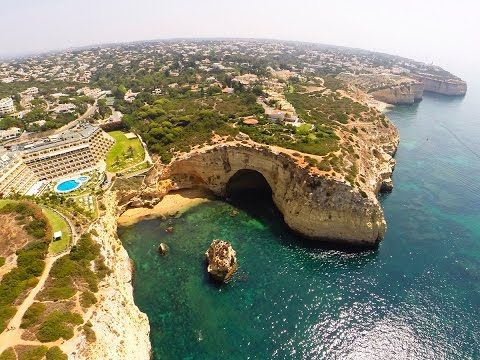 Centianes beach, Vale de Covo beach, Algar Seco and Carvoeiro beach aerial view - Lagoa - Algarve - YouTube