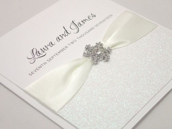Wedding Invitation Save The Date Handmade Winter Invitations Borealis Collection Sample UK