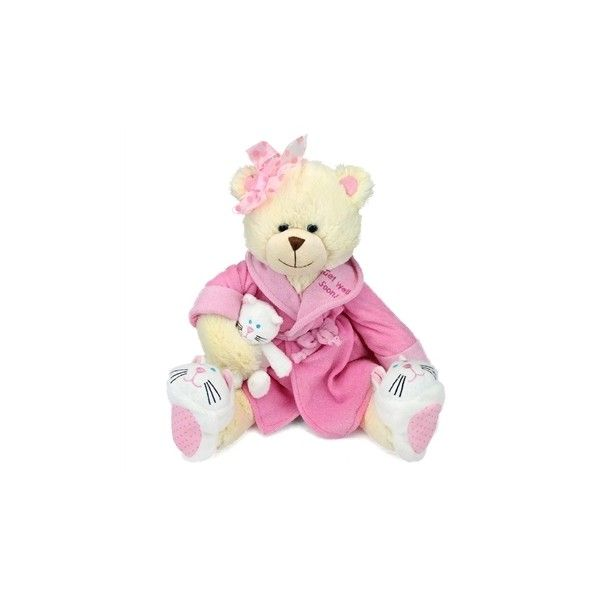 Recuperate Kate the Get Well Soon Teddy Bear by First and Main at... ($22) ❤ liked on Polyvore featuring animals